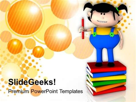 reading powerpoint template kids enjoy reading books