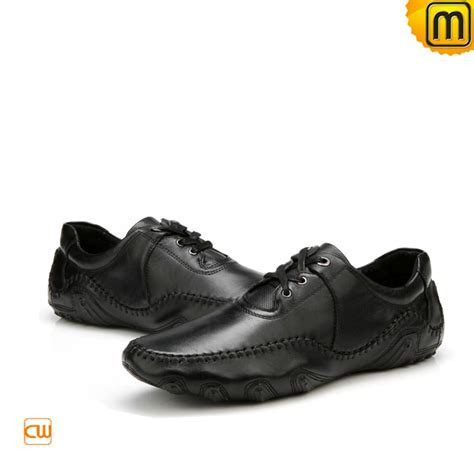 black loafers shoes s black leather driving loafers cw719023