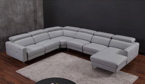 U Shaped With Recliner by Certosa Electric Recliner U Shape Sofa Luxury Top Grain