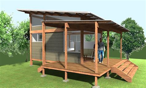 Free Log Cabin Floor Plans by 200 Sq Ft Pavilion Tiny House