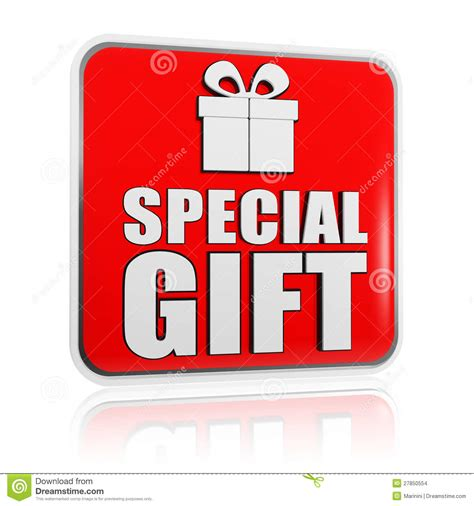 special gifts special gift banner with present box symbol stock