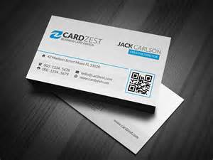Simple Business Card Templates by Clean Simple Blue Accent Business Card Template 187 Cardzest