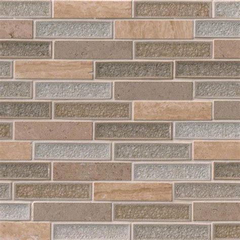 cove blend backsplash vista 1x4x8 mm glass and mosaic backsplash tile