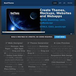 bootstrap theme generator online twitter bootstrap pearltrees