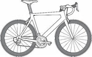 Road Bicycle Outline by Simple Road Bike Drawing