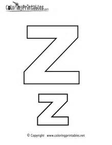 colors a to z alphabet letter z coloring page a free coloring
