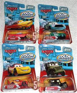 photo color changer mattel disney pixar diecast cars color changers four