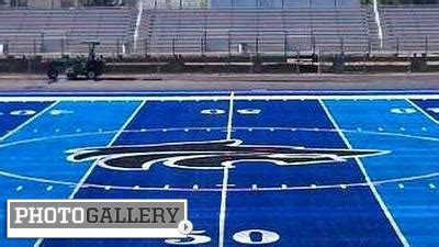 top 10 ugliest football fields include turfs of blue, red