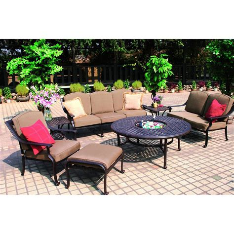 shop darlee 7 bronze aluminum patio conversation set