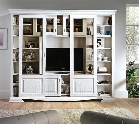 libreria con porta libreria 6 ante scorrevoli con porta tv