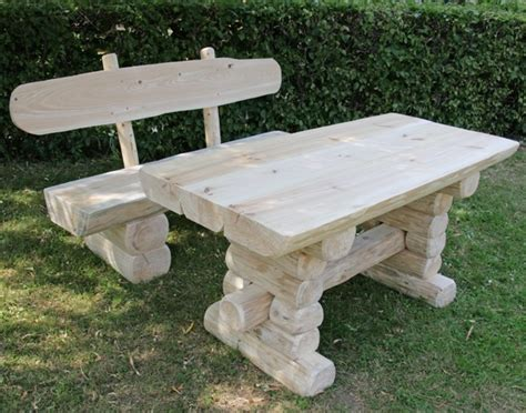 Gartentisch Holz Massiv Rustikal by Rustikaler Holz Gartentisch Und Bank Gartenm 246 Bel