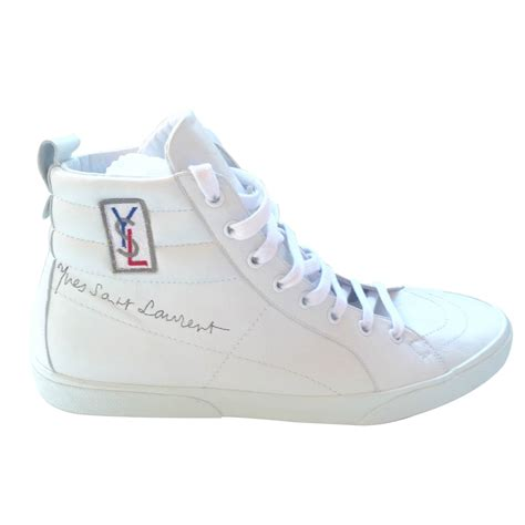 s laurent sneakers yves laurent sneakers sneakers leather white ref