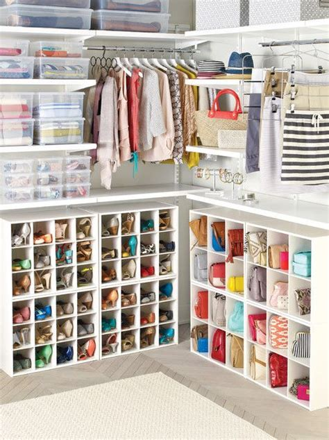 6 section shoe purse organizer closet modern closet