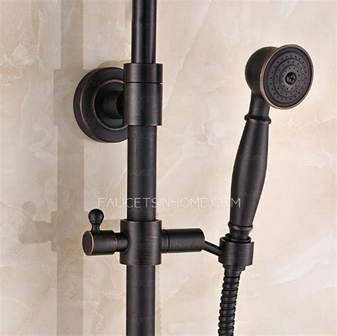luxury cross handle oil rubbed bronze outdoor shower faucets black oil rubbed bronze crosss handle exposed shower faucet