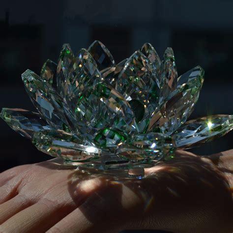 fiore di cristallo acquista all ingrosso fiore di cristallo di loto da