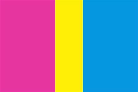 pride flag colors pansexual pride flag color palette