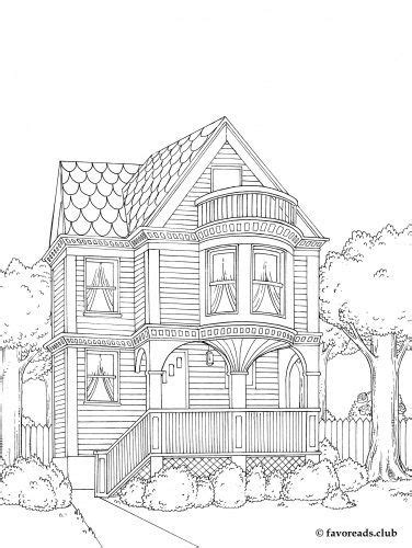 printable coloring pages for adults houses pictures adult coloring pages houses coloring page for