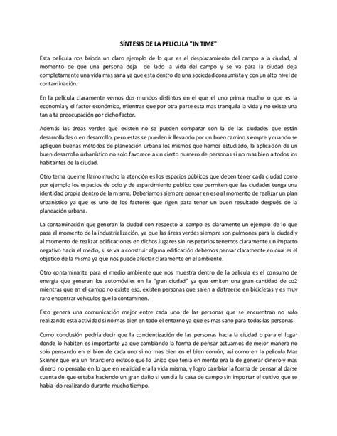 Resumen O Sintesis by Sintesis De La Pelicula Un Buen A 241 O