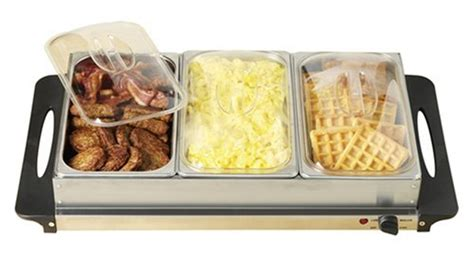 3 Section Warming Tray by New Electric Buffet Warming Tray Server Heater