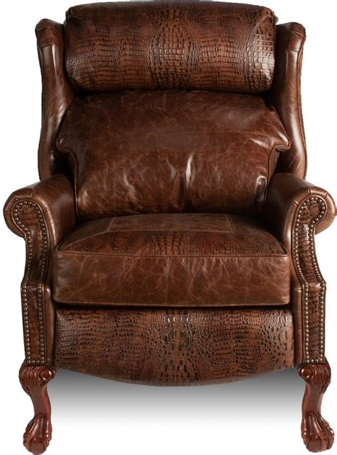 custom leather recliner wingback recliner hill country collection leather