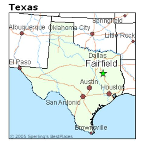 fairfield texas map best places to live in fairfield texas