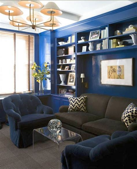 dark blue paint living room 17 pleasant blue and brown living room designs