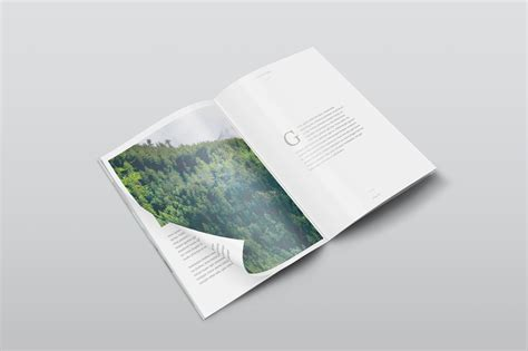 ideas mag free version free a4 psd magazine mockup isometric view creativebooster