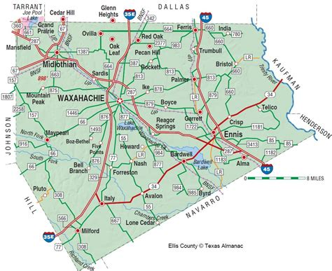 ellis county texas map ellis county the handbook of texas texas state historical association tsha