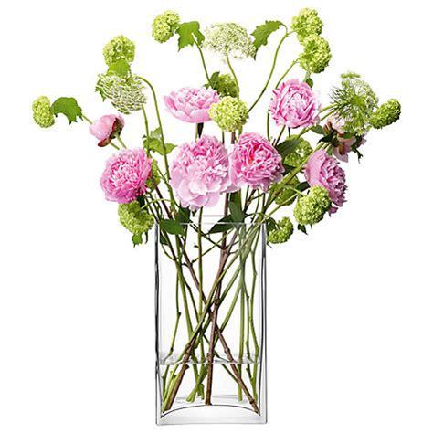 rectangular flower vase buy lsa international flower rectangular bunch vase clear h22cm lewis