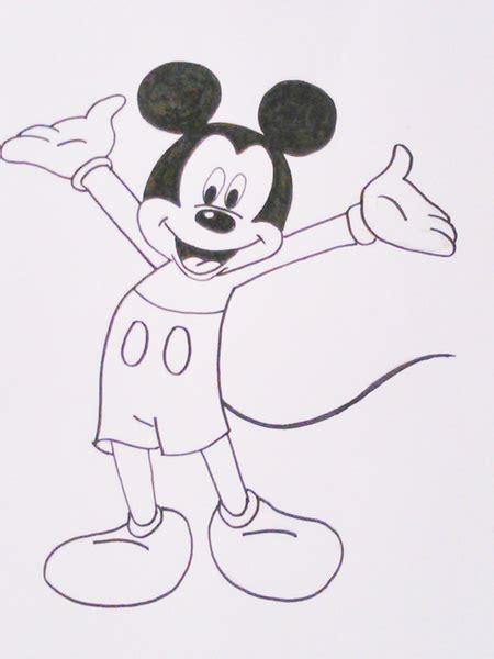 imagenes de mickey para dibujar a lapiz dibujos para colorear de disney dibujos f 225 ciles de hacer