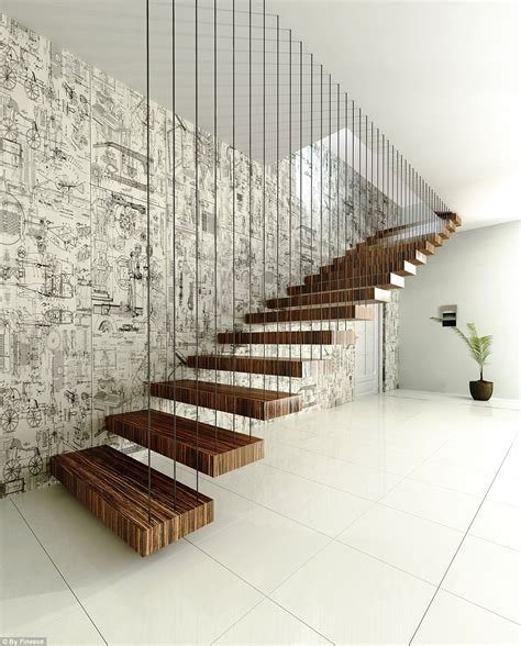 Hanging Stairs Design Creative Indoor Hanging Staircase Design Orchidlagoon