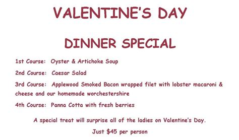 s day dinner and a special entree pass christian yacht club