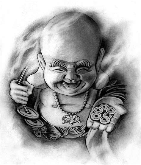 pencil drawings tattoo designs happy buddha by badfish1111 on deviantart