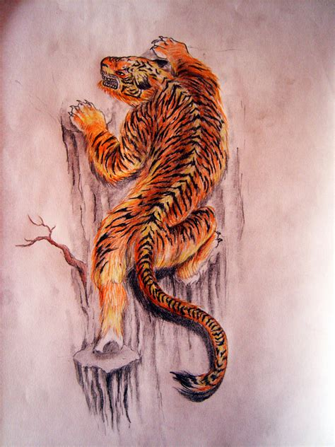 climbing tiger tattoo designs climbing tiger pictures to pin on