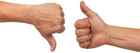 bid up thumbs up or of thumb play a meaningful