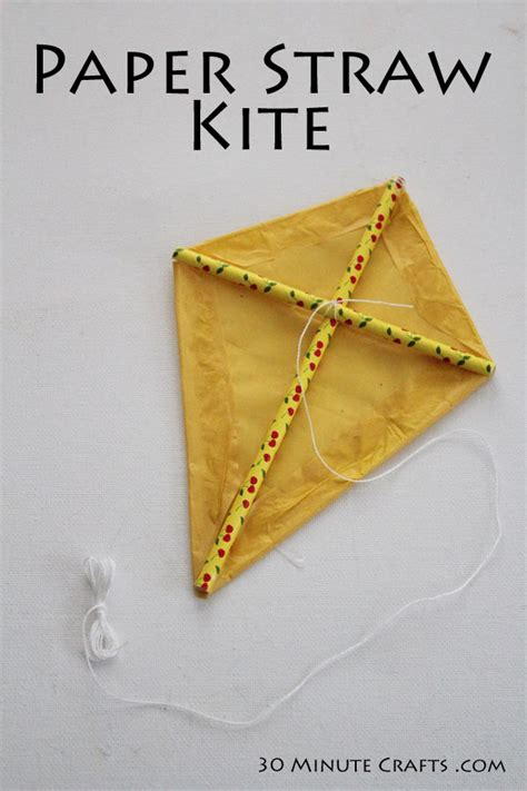 How To Make Simple Kite From Paper - paper straw kite 30 minute crafts