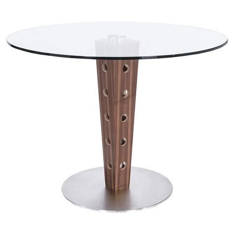 Elton Modern Dining Table Glass Top Stainless Steel Stainless Steel Dining Table Glass Top