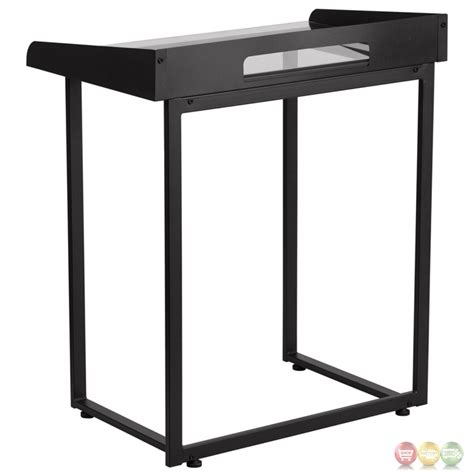 Tempered Glass Desk by Desk With Clear Tempered Glass And Black Frame