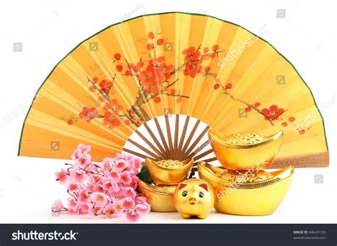 new year fan decoration new year decoration traditional fan with gold