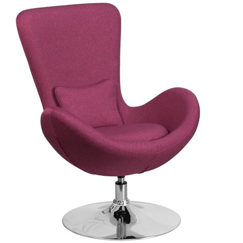 Recliner Chairs Fabric Upholstery Flash Furniture Magenta Fabric Egg Series Reception Lounge