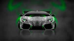 Neon Lamborghini Lamborghini Aventador Neon Aerography Car 2014 El Tony
