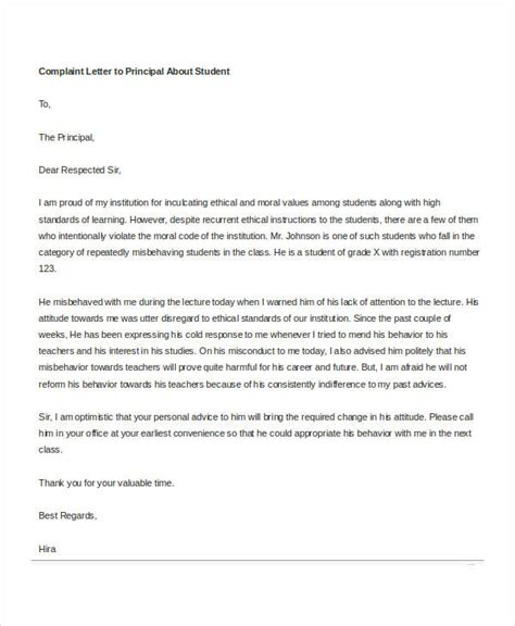 Complaint Letter To Principal complaint letter templates in word 28 free word pdf