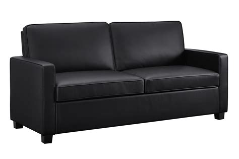 Leather Memory Foam Sleeper Sofa Signature Sleep Mattresses Casey Faux Leather Size