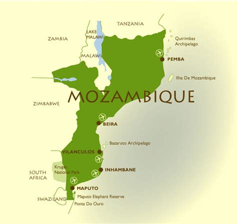 map of mozambique cities mozambique en4 road repairs get sa transport world