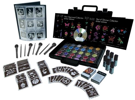 tattoo set glitter kits glimmer
