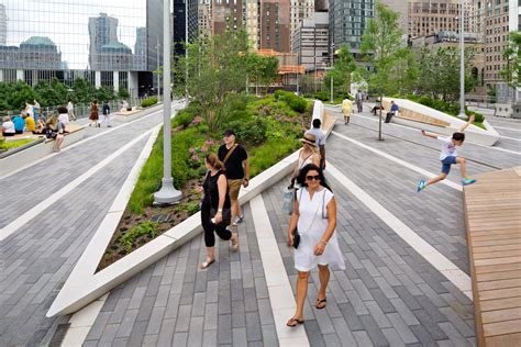 Landscape Benches Liberty Park Fills A Critical Role In The World Trade