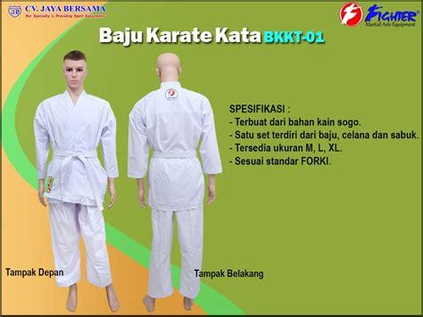 Harga Baju Karate Merk Adidas figther martial arts jual alat beladiri di jakarta