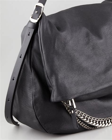 Jimmy Choo Dessy Holdall Handbag by Lyst Jimmy Choo Biker Large Hobo Bag In Black
