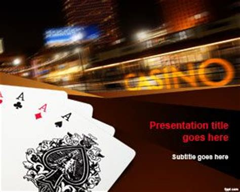 Free Four Of A King Powerpoint Template Free Casino Templates