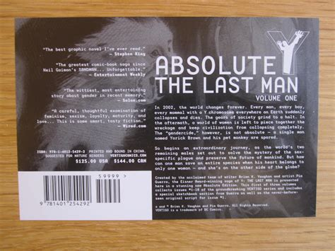 absolute y the last 1401264913 my absolute collection y the last man vol 1 absolute oversized slipcase edition